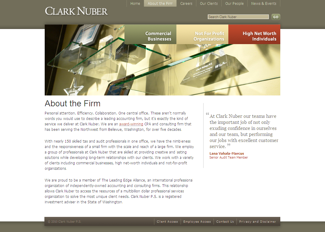 About THE FIRM - Clark Nuber PS_1266625923171